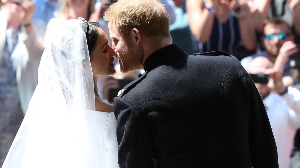 Harry herceg és Meghan Markle az esküvőjükön