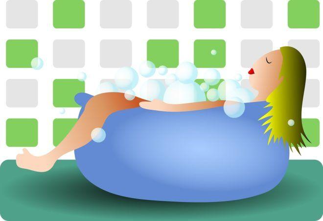 Habfürdőzés (Fotó: Pixabay)