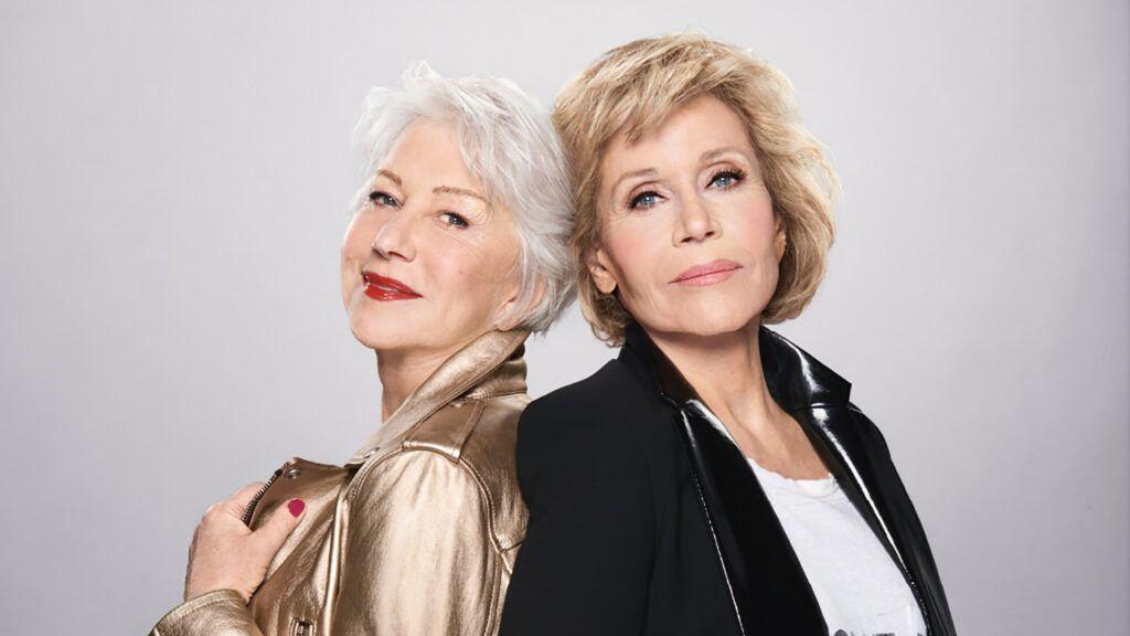 Helen Mirren és Jane Fonda jól érzik magukat a bőrükben, ez látszik is rajtuk (Fotó: L'Oréal)