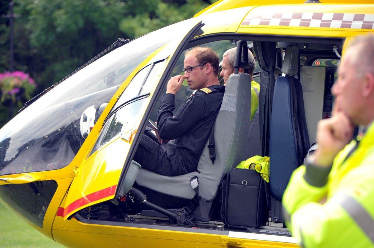Vilmos herceg pilótaként 2015-ben