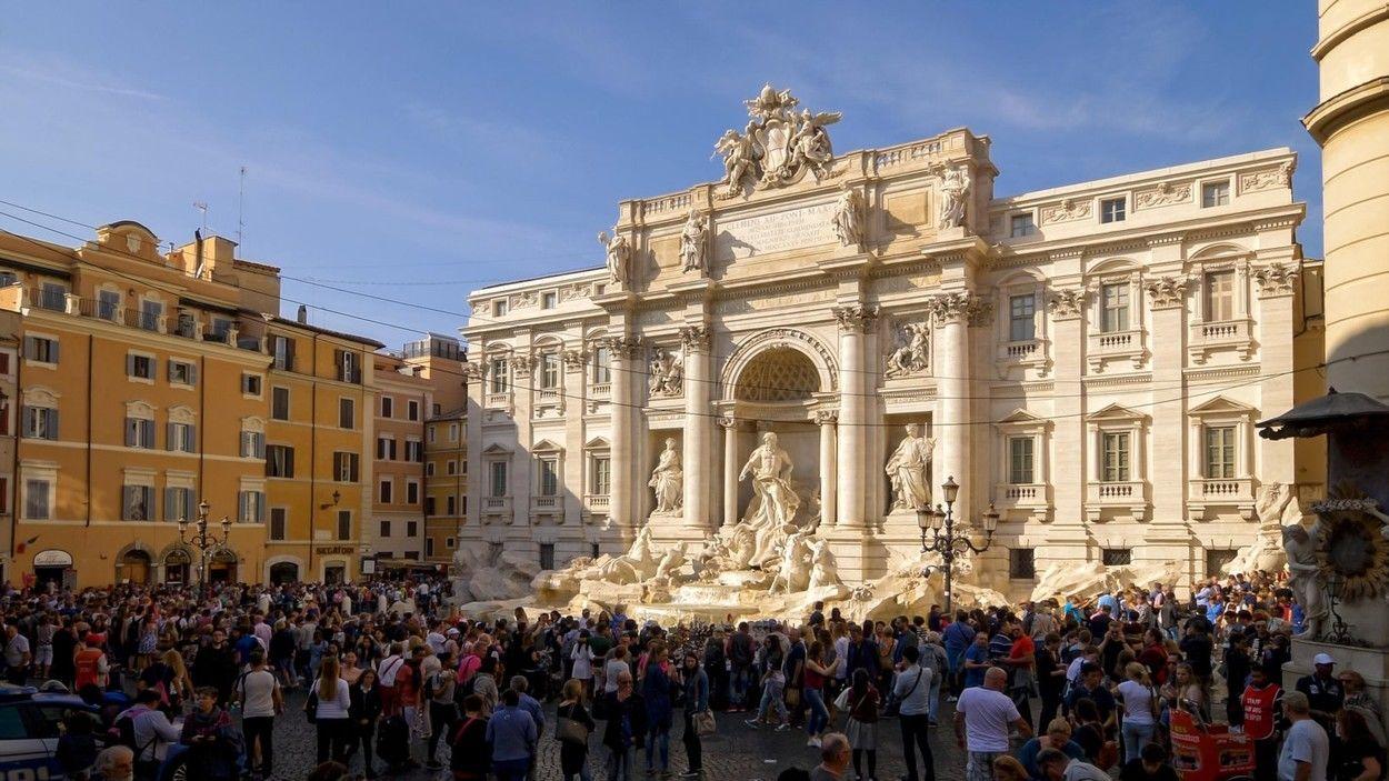 A Trevi kút Rómában
