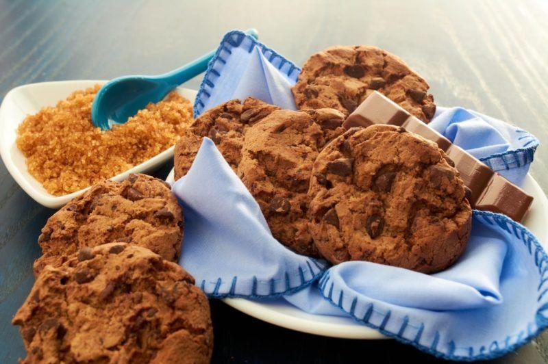 Csupacsokis cookie a maradék csokinyusziból