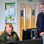 Vilmos herceg és Katalin hercegnő egy londoni mentőállomáson március 19-én