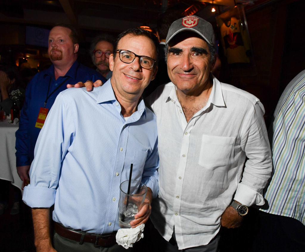 Rick Moranis és Eugene Levy kanadai színész, humorista egy 2017-es politikai rendezvényen (Fotó: George Pimentel/Getty Images)