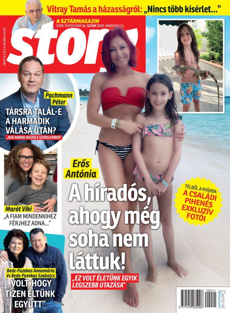A Story magazin címlapján láthatjuk Erős Antónia gyerekeit