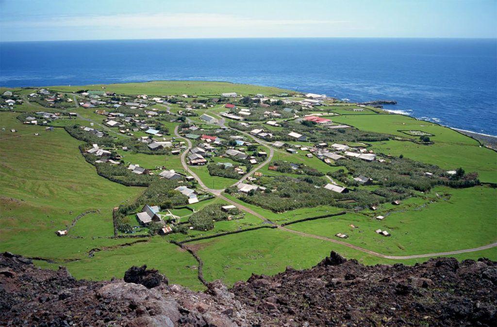 Tristan da Cunha fő-, és egyetlen városa, Edinburgh of the Seven Seas (Fotó: Getty Images)
