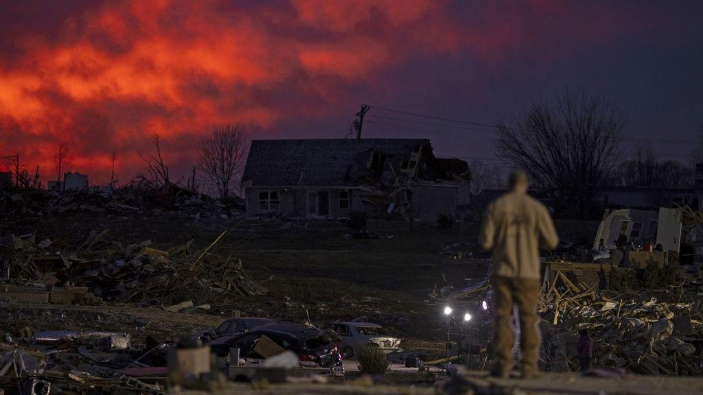 A tornádó pusztítása a tennessee-i Cookeville-ben