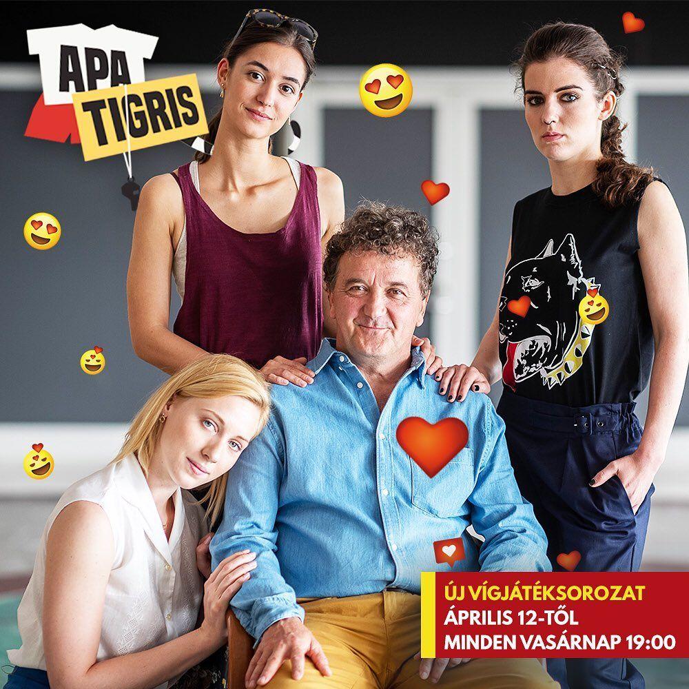 Scherer Péter és Rujder Vivi, az Apatigris c. sorozat szereplői (Fotó: RTL Klub)