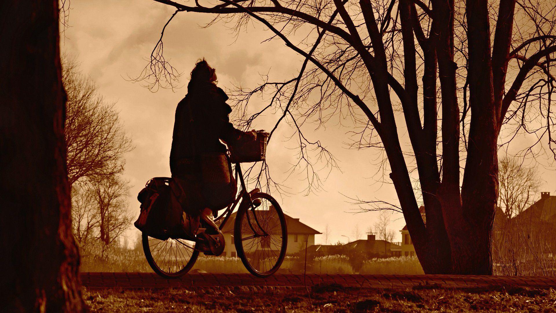 idős nő bicikli