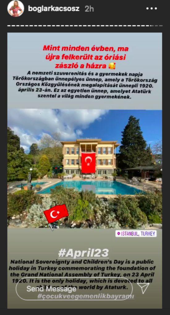 Csősz Boglárka isztambuli otthona egy villa