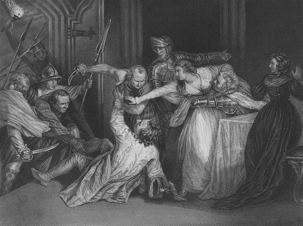 David Rizzio meggyilkolása J.Opie festményén, 1754. (Fotó: Culture Club/Getty Images)