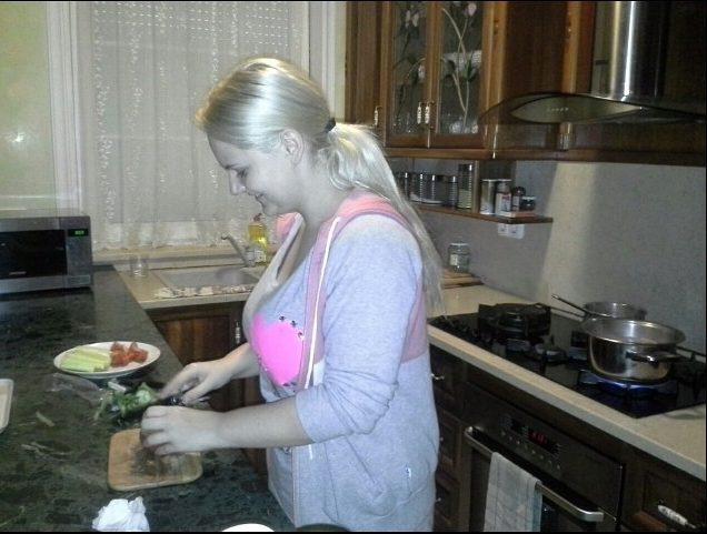Fásy Zsüliett szívesen főz (Fotó: Instagram)