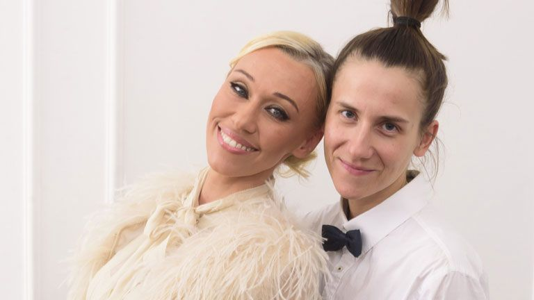 Gallusz Niki és párja, Laura a 2017-es Story Gálán (Fotó: Schumy Csaba)