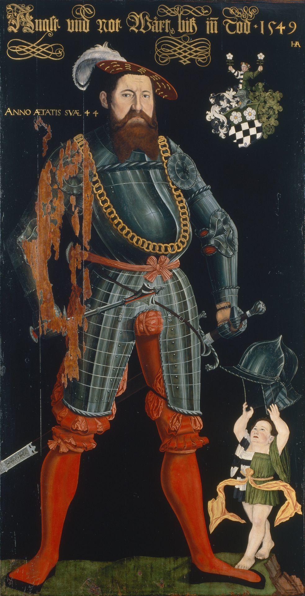 Wilhelm Frölich portréja 1549-ből, melyen jól látszik, mily fontos szerepet kapott a férfiak öltözködésében a gatyapőc.
