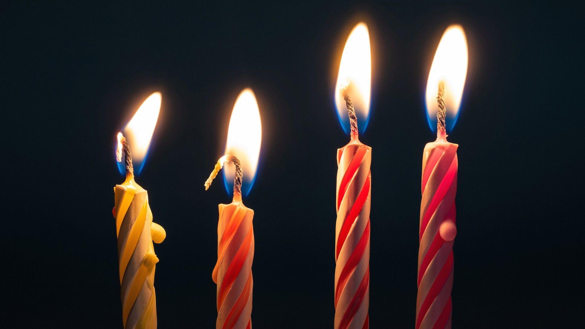 születésnap gyertya