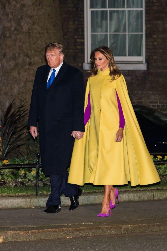 Donald és Melania Trump a londoni Downing Street-en