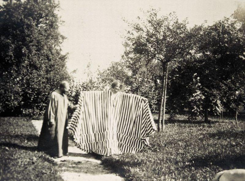 Gustav Klimt és Emilie Flöge (Fotó: Imagno/Getty Images)