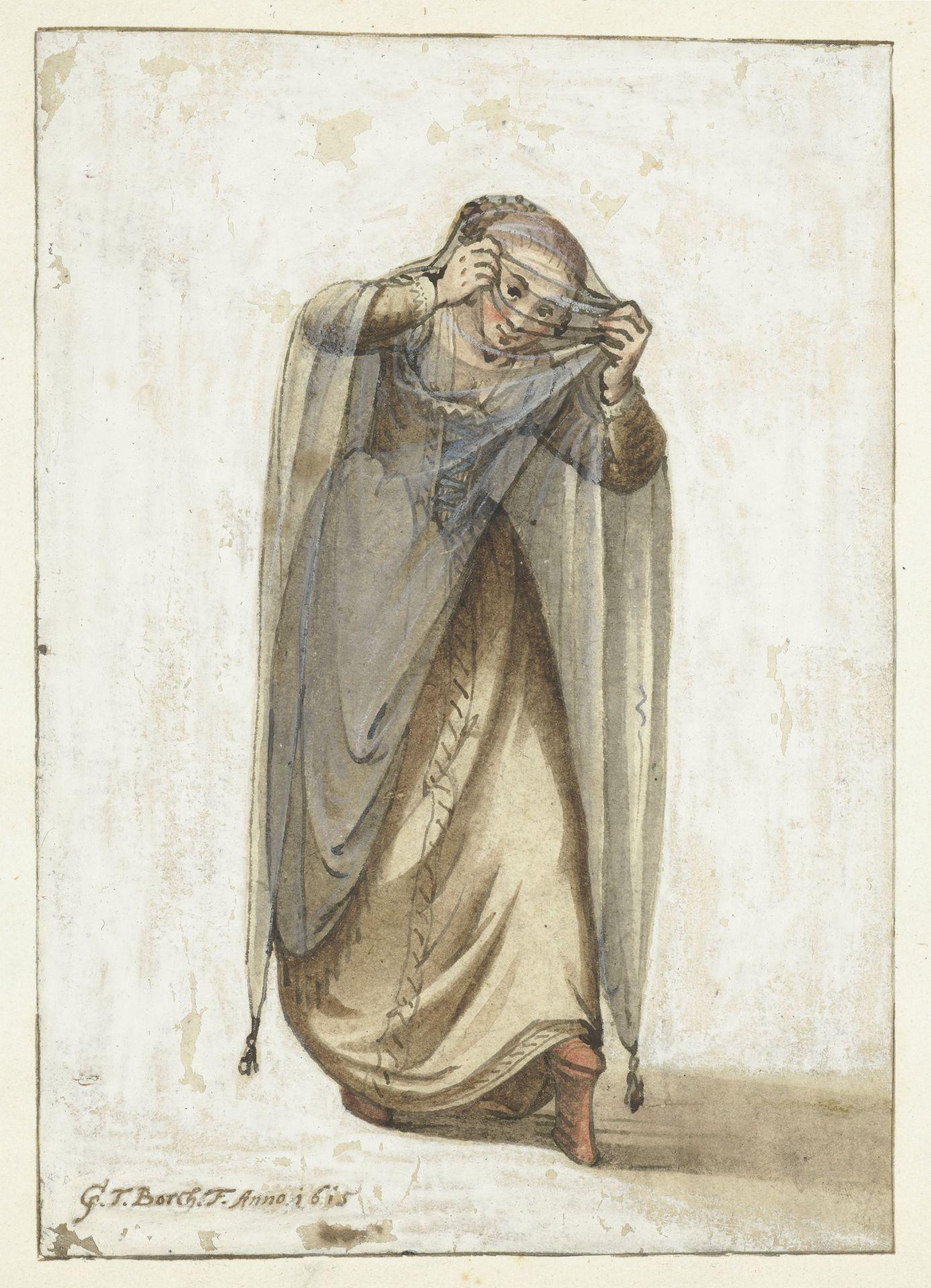Velencei kurtizán 1660-1670 körül.