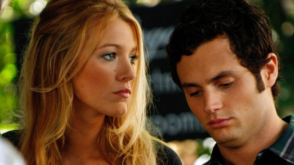 Dan Humphrey (Penn Badgley) és Serena van der Woodsen (Blake Lively) a Gossip Girl egyik jelenetében.