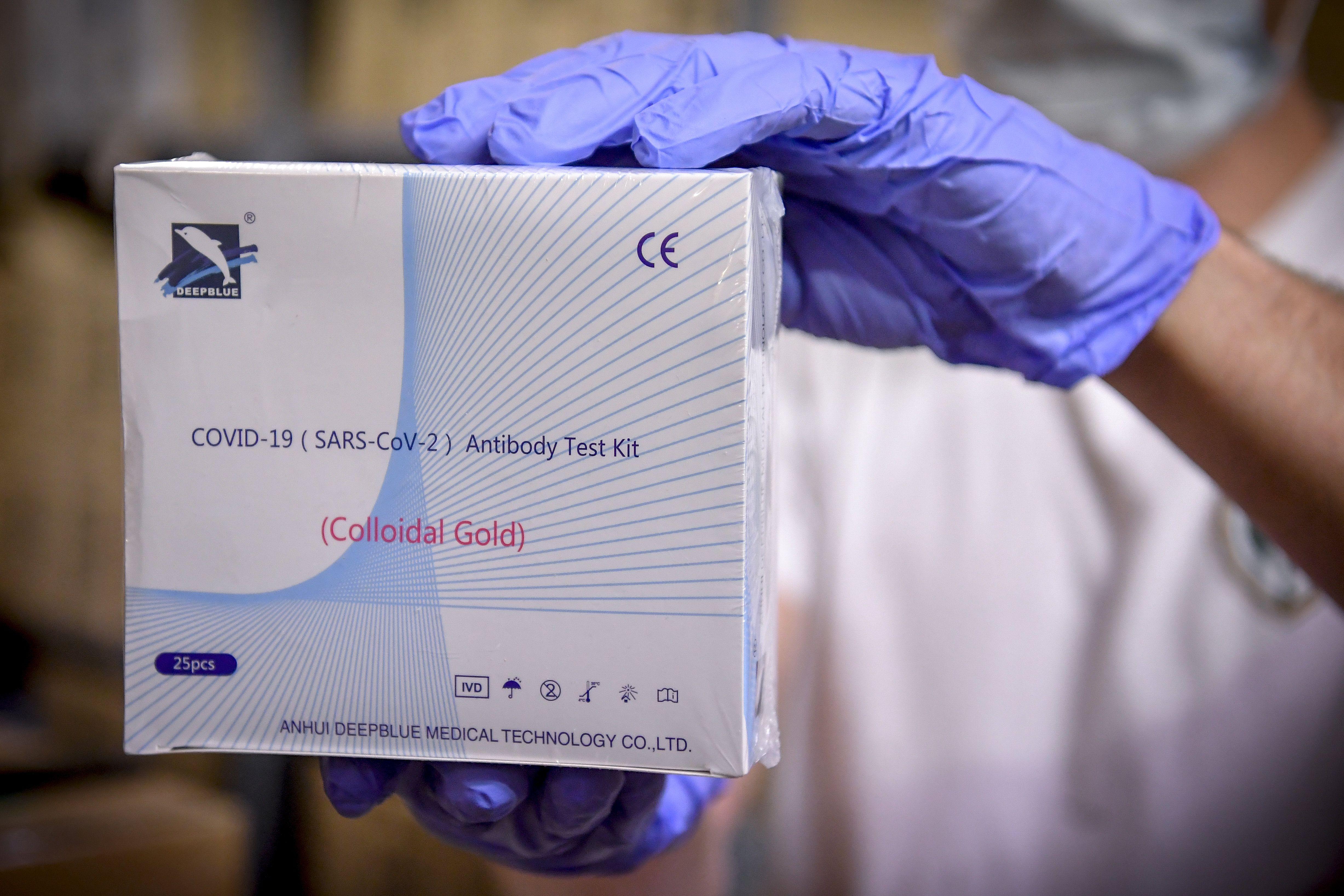 A Anhui Deep Blue Medical Technology által gyártott koronavírus gyorsteszt