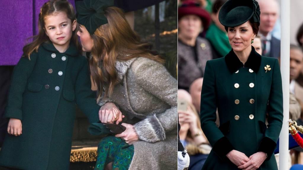 Katalin hercegné és Sarolta egyforma ruhákban