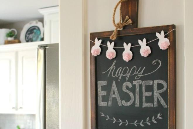 nyuszifüzér húsvét diy