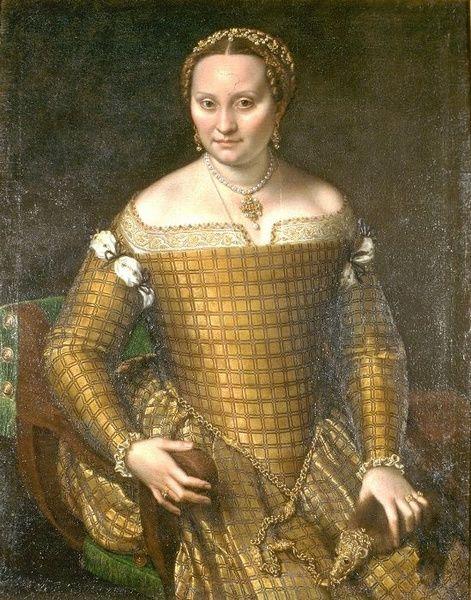 Bianca Ponzoni Anguissola portréja 1557-ből, melyen jól látható a zibellino.