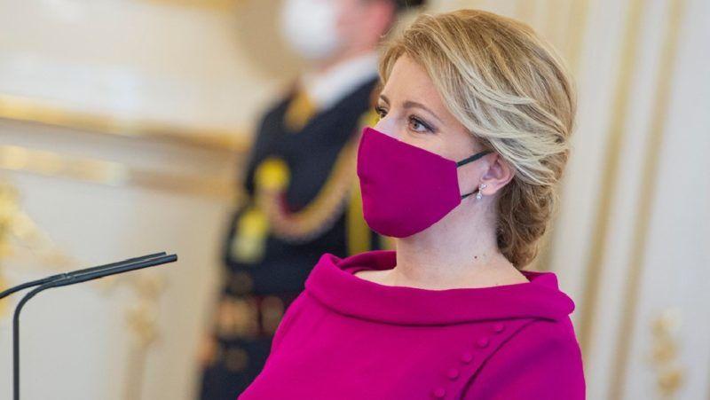 Zuzana Čaputová szlovák elnök arcmaszk