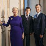 II. Margit dán királynő, Frigyes koronaherceg és Keresztély herceg.