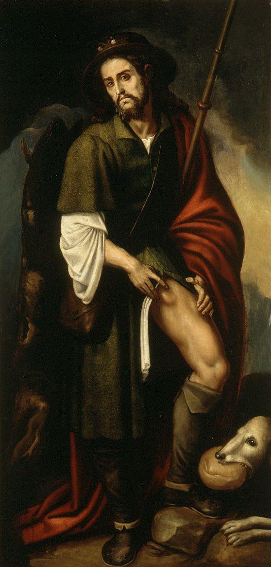 Szent Rókus Francesco Ribalta festményén (forrás: Wikipedia)