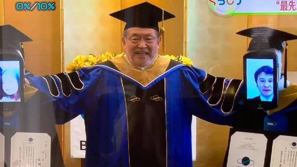 Virtuális diplomaosztóval kerülték el a kontaktust az egyetemen. Fotó: Facebook