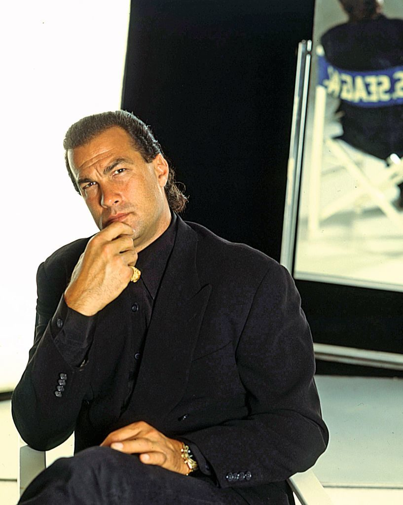 US actor and martial arts champion Steven Seagal posing. He will be awarded at Telegatti. Milan, May 8th, 1995