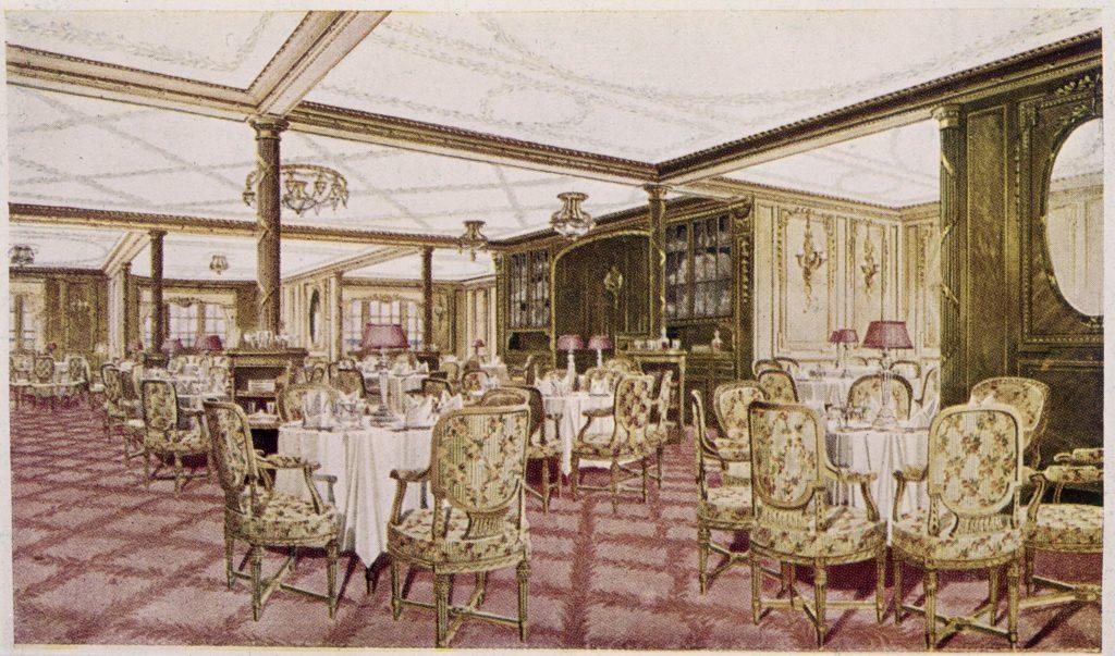 Étkező helység, a Titanic első osztályán - illusztráció (Fotó: Roger Viollet via Getty Images)