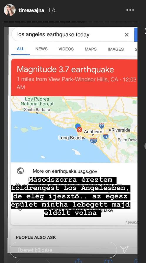 vajna tímea timi földrengés