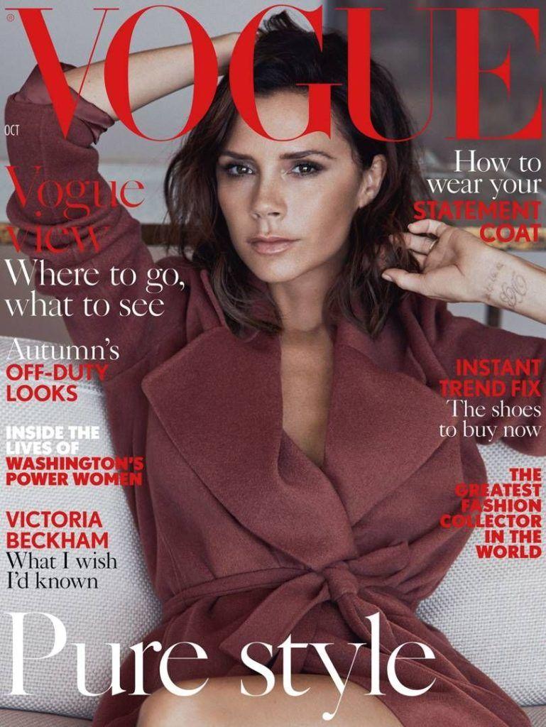 A brit Vogue magazinnak mesélt 2016 októberében Victoria Beckham, hogy megbánta a plasztikai műtéteit