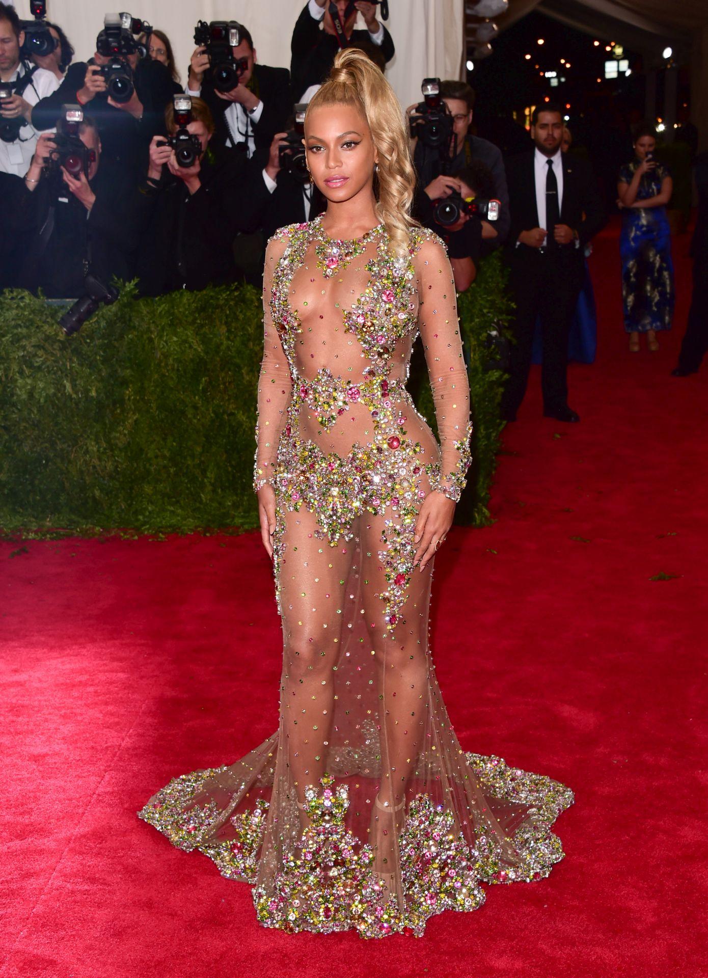 Beyonce a 2015-ös MET-gálán.