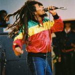 Bob Marley 1980 júniusában egy londoni koncerten.