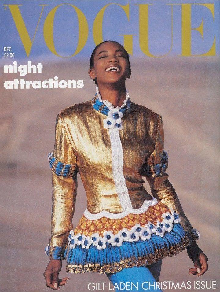 Naomi Campbell a brit Vogue címlapján, 1987-ben