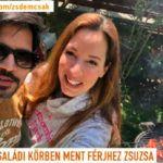 Demcsák Zsuzsa férje, Krishan Dangwal az idei első grillezésükről aranyos képet posztoltak