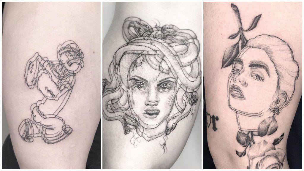 homályos tetoválás optikai illúzió