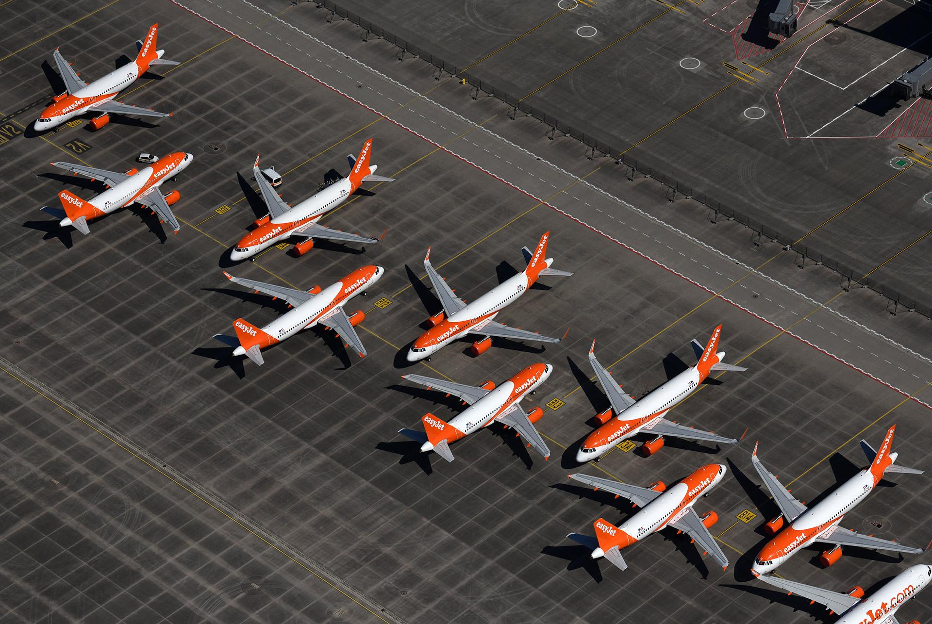 Az easyJet légitársaság gépei