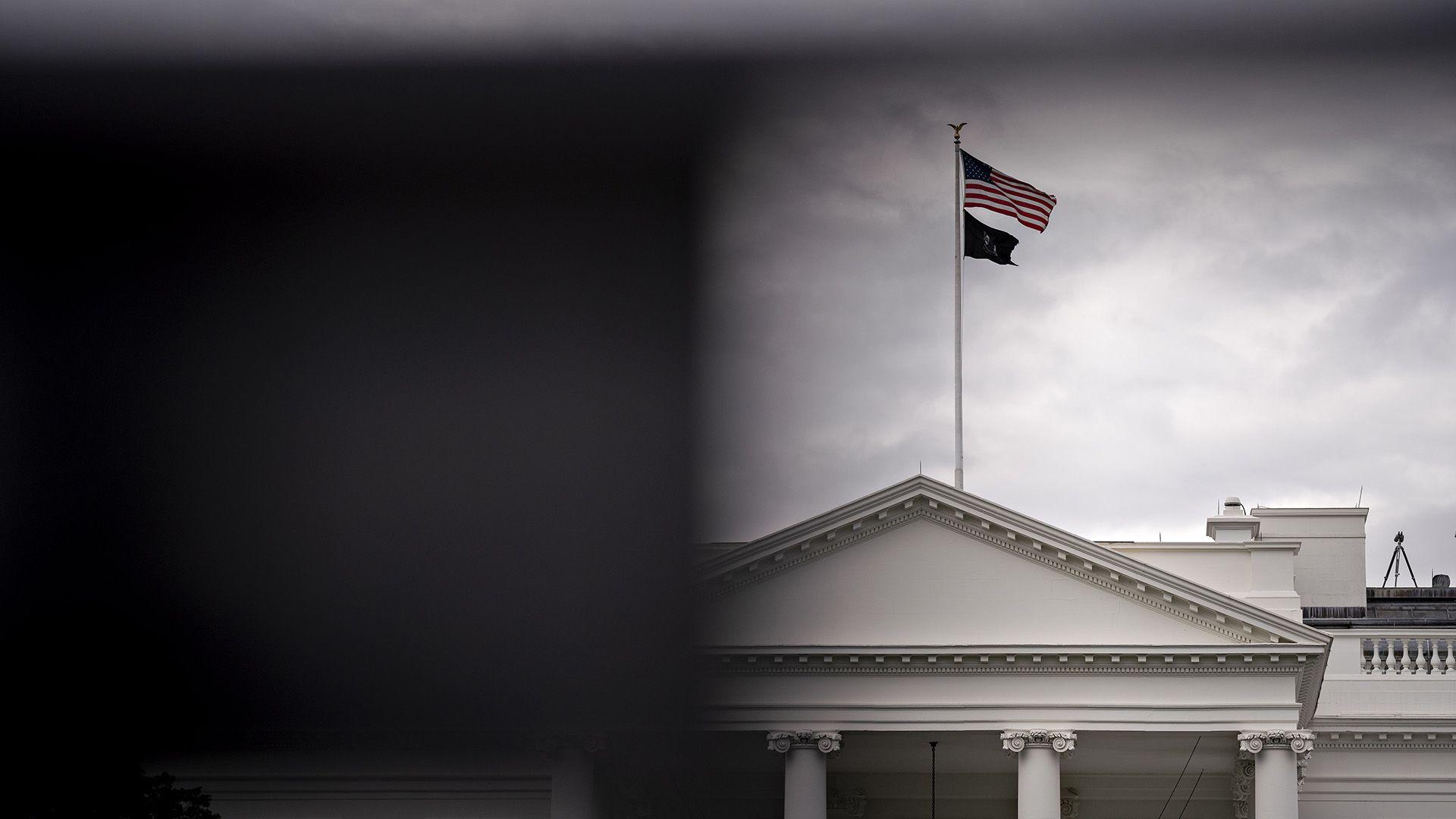 A Fehér Ház lobogói