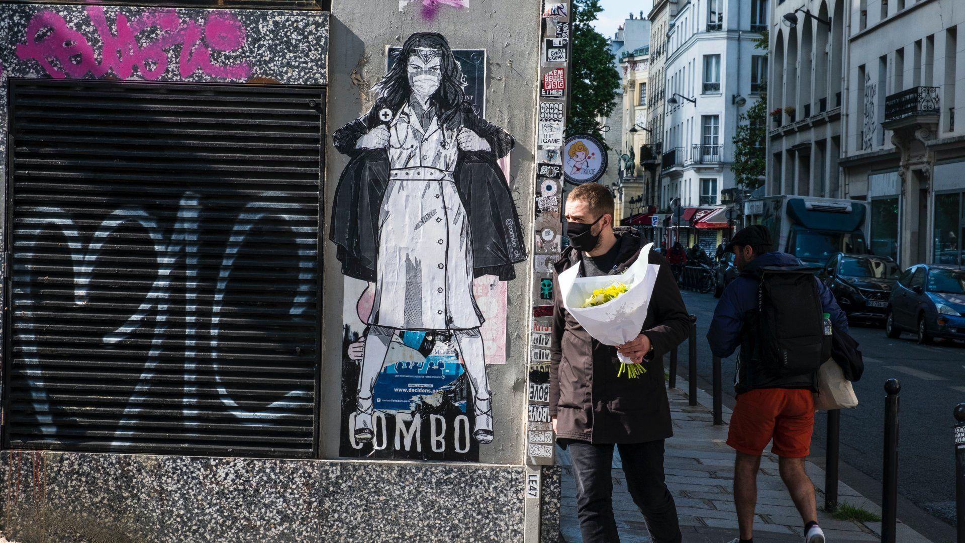 koronavírus graffiti
