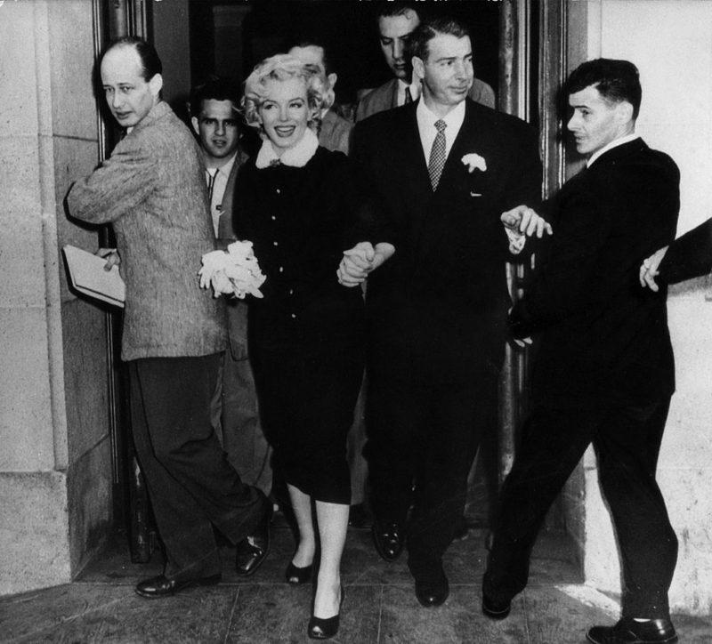 Marilyn Monroe és Joe DiMaggio esküvője 1954-ben