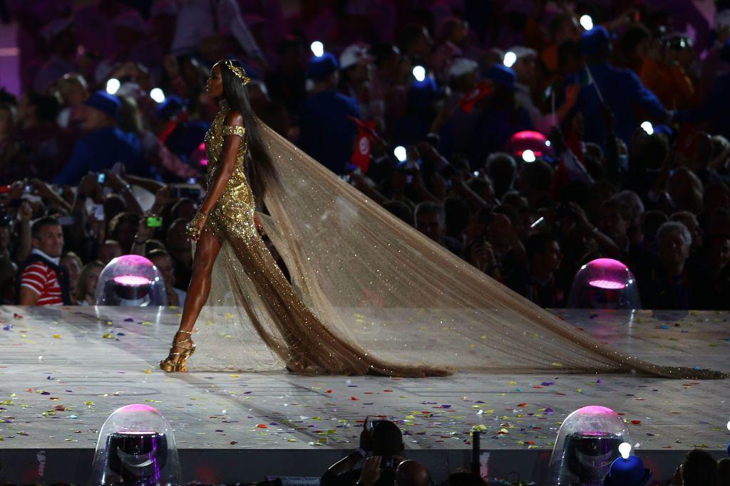 Naomi Campbell a londoni olimpia záróünnepségén