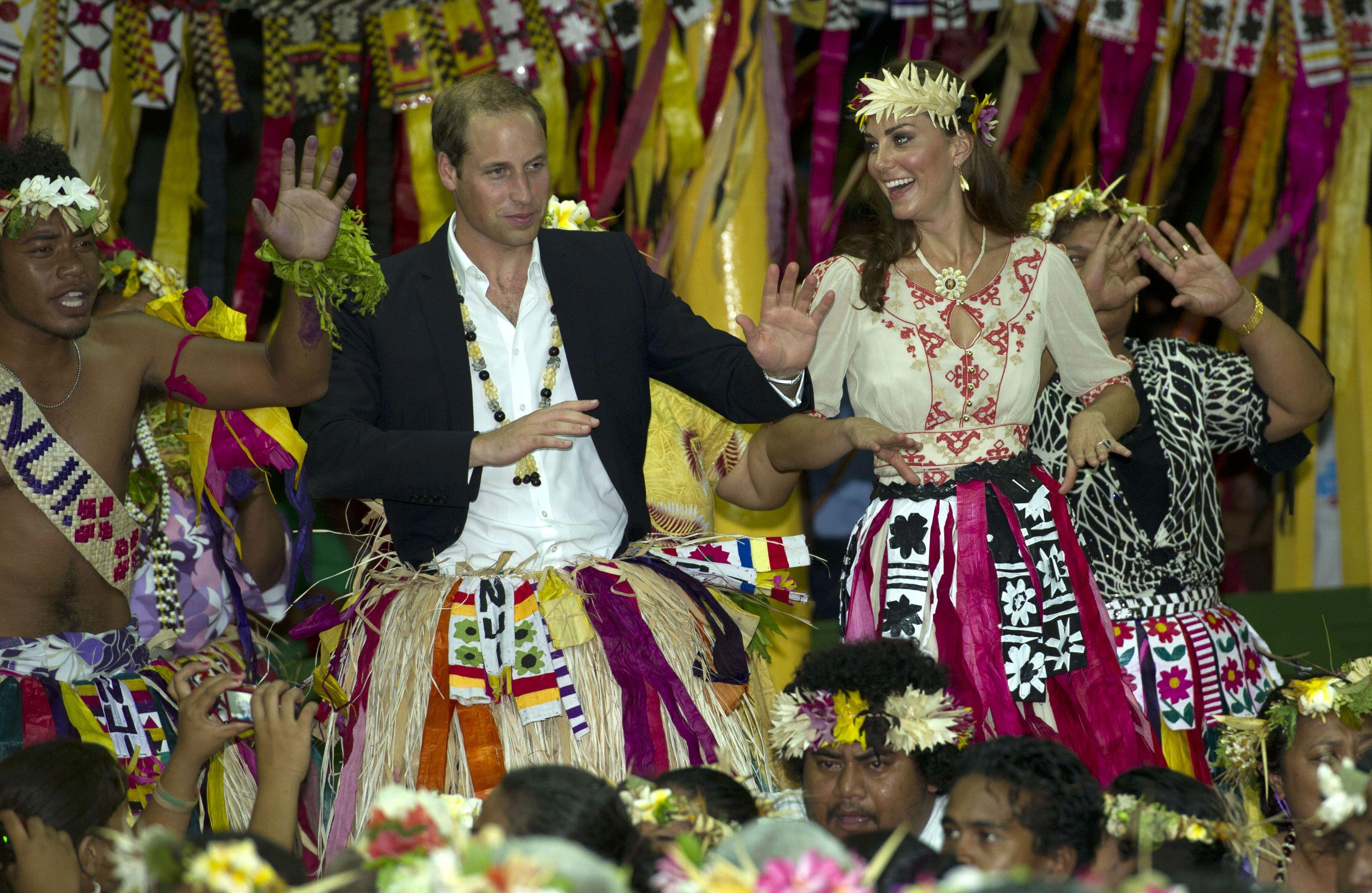 Katalin hercegné és Vilmos herceg 2012-ben