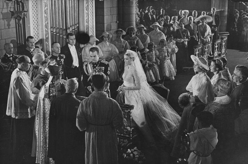 III. Rainier herceg és Grace Kelly esküvője, 1956. április 19-én