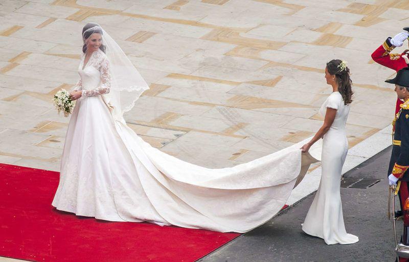 Katalin hercegné az esküvője napján