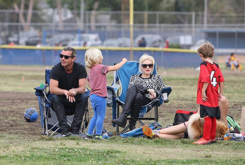 Gwen Stefani és Gavin Rossdale gyerekeikkel