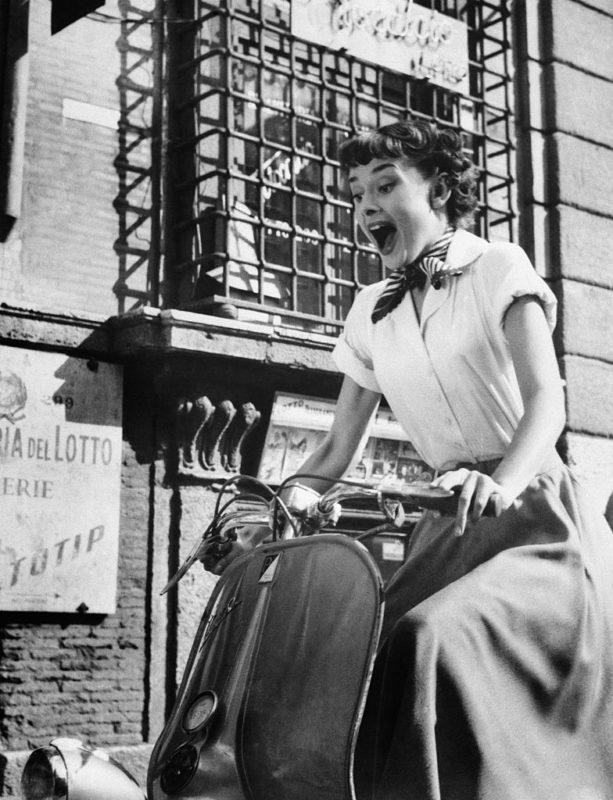 Audrey Hepburn a Római vakácció című filmben